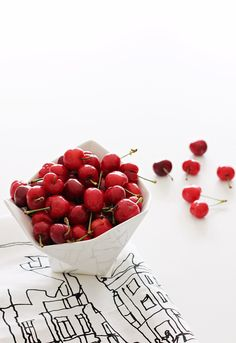 Via Nordic Leaves | Cherries | Muuto Crushed Bowl | Marimekko Tea Towel