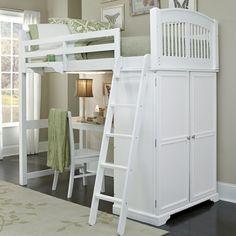 Kinderhochbett in Weiß