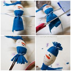 If you are looking for festive plastic spoon crafts these adorable snowmen in wintery clay pots make a fun decoration or place holder. Plastic Spoon Crafts, Plastic Spoons, Decor Crafts, Diy And Crafts, Crafts For Kids, Painted Spoons, Wooden Spoons, Spoon Ornaments, Lion Craft
