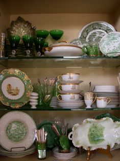 ....love green and white