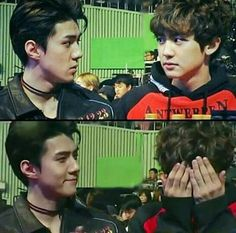 Sehun and Chanyeol Park Chanyeol Exo, Exo Chanyeol, Kyungsoo, Cute Bunny Pictures, Types Of Boyfriends, Exo Couple, Ko Ko Bop, Exo Official, Exo Memes