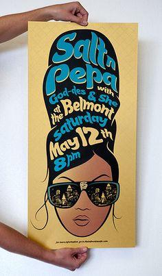 Salt-N-Pepa screen printed posters for The Belmont - Sanctuary Printshop