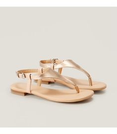 Primary Image of Metallic Thong Sandals
