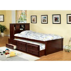 Twin Bed with Storage and Bookcase Headboard - Best Paint for Wood Furniture Check more at http://fiveinchfloppy.com/twin-bed-with-storage-and-bookcase-headboard/
