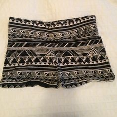 Spandex Victoria's Secret Shorts Black and white Aztec print spandex shorts from Pink by Victoria's Secret. Worn but still in excellent condition. Victoria's Secret Shorts