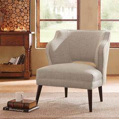 Madison Park Cody Armless Mod Chair in Deauville Hemp MP-FPF18-0396