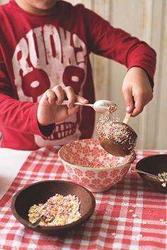 Chocolate and toffee - choffee apples! Halloween treats