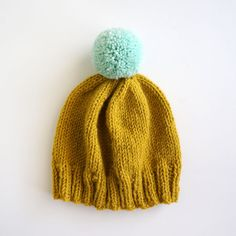 Lemongrass and Sweet Mint Beanie  READY TO SHIP by helloquiettiger