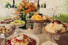 Great idea for a rustic wedding feast!