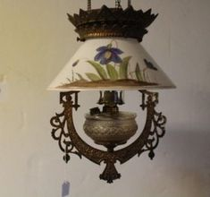 Cast Iron Victorian Hanging Kitchen Lamp