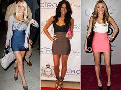 vestidos de bandagem diferentes modelos
