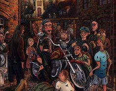 """""""Idol"""" oil painting on glass #oilpainting #idol #motorcycle"""