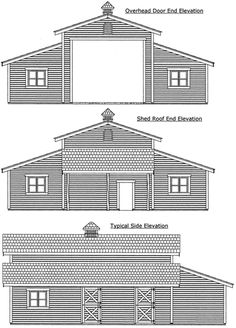 shop plans ideas | Barn / Shop Plans - 44 x 36 Monitor - StableWise