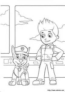 Paw Patrol Chase Coloring Pages - HiColoringPages