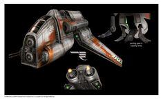 Star Wars the Old Republic concept art- SWTOR Republic transport shuttle