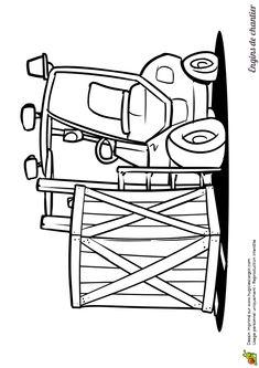 Un chariot de chantier à colorier