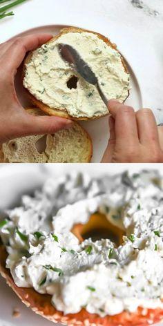 Vegan Cheese Recipes, Vegan Cream Cheese, Vegan Sauces, Vegan Breakfast Recipes, Vegan Foods, Vegan Dishes, Dairy Free Recipes, Raw Food Recipes, Vegetarian Recipes