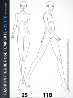Fashion Figure Drawing Template Catwalk