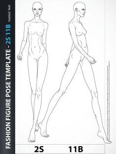 Fashion Figure Drawing Template Catwalk