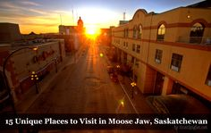Unique Places to Visit in Moose Jaw, Saskatchewan 15 Unique Places to Visit in Moose Jaw, Saskatchewan for travel in Canada via Unique Places to Visit in Moose Jaw, Saskatchewan for travel in Canada via Oh The Places You'll Go, Places To Visit, Saskatchewan Canada, Canadian Travel, Adventure Is Out There, Holiday Travel, Vacation, Moose, Unique