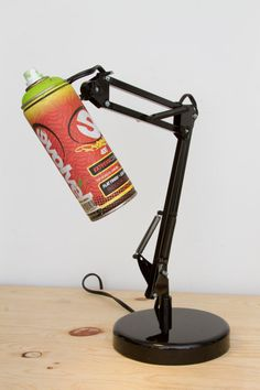 Adjustable Spray Paint Swivel Arm Architect  Lamp by WeaselWrks on etsy