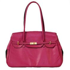 NEW Petote Katie Dog Carrier That Looks Like a Designer Handbag in Rose Grenadine (Made in the USA) http://www.chicpooch.com/petote-the-katie-bag-pet-carrier-in-rose-grenadine.html