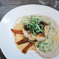 Grilled Florida Black Grouper with Risotto & Lemon Pesto Grouper Recipes, Fish Recipes, Clearwater Florida, Pesto, Risotto, Seafood, Grilling, Good Food, Lemon