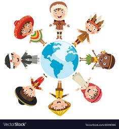 Persona Feliz, Different Races, Happy Kids, Adobe Illustrator, Vector Free, Racing, Symbols, Children, Illustration