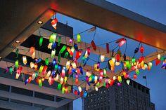 Recycled Bottle Garden Lights