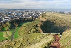 This is another one of those fantastic views of Edinburgh from Arthur's Seat, the extinct volcano right in the middle of the city, and Holyrood Park, Edinburgh (Walkhighlands)