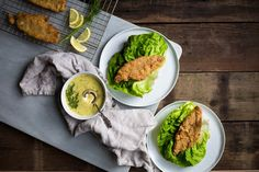Fried Catfish in Lettuce Cups with Sauce Gribiche // Remembered Beginnings