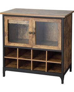Better Homes And Gardens Better Homes And Gardens Rustic Country Wine Cabinet…