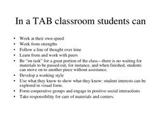Teaching for Artistic Behavior (TAB) slideshare pinned by kathy d.