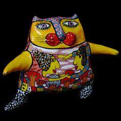 Cat Sculpture, Ceramic Cat, Ceramic Sculpture, Clay Cat, Clay Sculpture, Ceramic Statue, Ceramic Figurines, Ceramic Animals, Ceramic Figures
