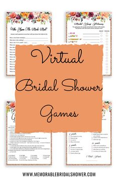 How to Host a Virtual Bridal Shower or Bachelorette Party - Memorable Bridal Shower Bridal Shower Bingo, Printable Bridal Shower Games, Wedding Shower Games, Unique Bridal Shower, Bridal Showers, Baby Shower, Disney Love Songs, Movie Love Quotes, Bachelorette Party Games