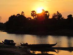 Cambodia River Sunset
