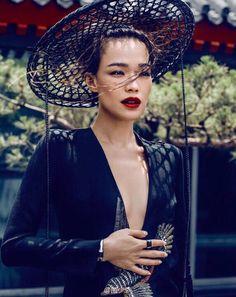 Shu Qi by Chen Man for Harper's Bazaar China August 2015 - GUCCI Fall 2015 dress, BVLGARI MVSA jewels