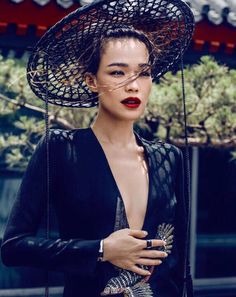 Shu Qi by Chen Man for Harper's Bazaar China August 2015 - GUCCI Fall 2015 dress, BVLGARI MVSA jewels