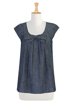 I <3 this Beau belle chambray blouse from eShakti