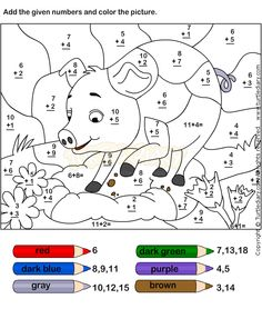 math worksheet : free! simple addition color by numbers worksheets  : Coloring Addition Worksheets