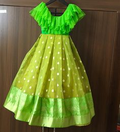 Indian kids dresses for sale , light green kids frocks Baby Girl Frocks, Frocks For Girls, Dresses Kids Girl, Baby Dresses, Indian Dresses For Kids, Long Frocks For Kids, Kids Indian Wear, Girls Dresses Sewing, Gowns For Girls