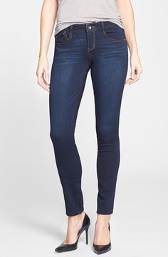 Wit & Wisdom Stretch Skinny Jeans (Dark) (Nordstrom Exclusive) available at #Nordstrom