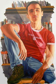 realistic painting of young man male portrait paintings men artist raphael perez painter