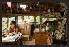 Gypsy wagon interior. by linda