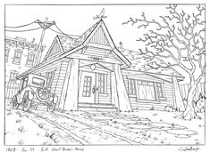 The animation art and illustration of artist, Steve Lowtwait Colouring Pages, Adult Coloring Pages, Coloring Books, Background Drawing, Animation Background, Animation News, Hey Arnold, Perspective Art, Pattern Images