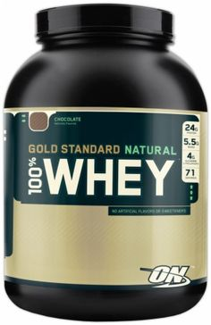 Optimum Gold Standard Natural 100% Whey. In case I do decide to splurge on protein supplements, this would be the one.