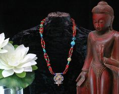 Red Coral Gau Necklace