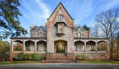 1867 Mansion For Sale In Garrison New York Lyndhurst Mansion, Petersburg Virginia, Brick Construction, Mansions For Sale, Second Empire, Arched Windows, Real Estate Companies, Old Houses, House Styles