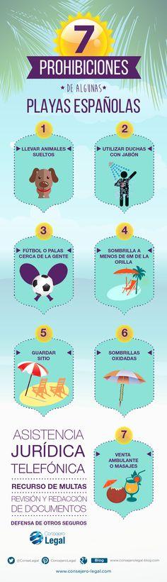 Prohibiciones de las playas españolas (infografia) - Consejero Legal
