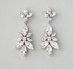 Teardrop chandelier swarovski crystal earrings tastefully dazzling nature inspired swarovski crystal chandelier earrings aloadofball Images